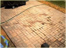 unfinished brick patio install
