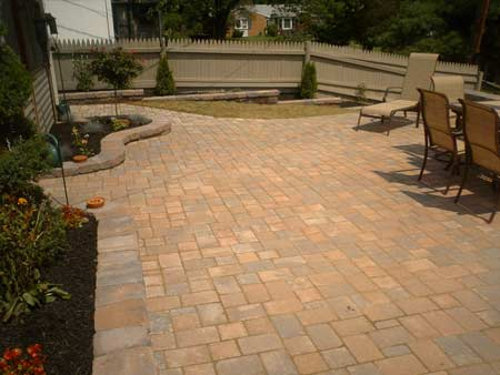 large paver patio